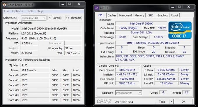 Overclocking i7-3930K auf 4,1 GHz